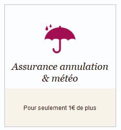 Assurance annulation & météo