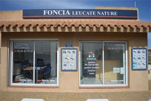 Vue extérieure de l'agence Agence immobilière naturiste Foncia Leucate Nature